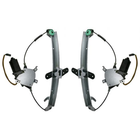 1998 11 Lincoln Town Car Window Regulator Pair 1awrk00376 At 1a