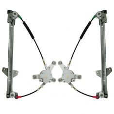 96-98 Audi A6; 96-97 Audi S6 Power Window Regulator w/o Motor PAIR