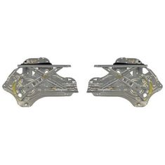 2007-10 Hyundai Entourage; 06-11 Kia Sedona Power Window Regulator w/o Motor Front PAIR