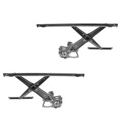 2007-11 Toyota Camry; Camry Hybrid (US Built) Power Window Regulator w/o Motor Front PAIR