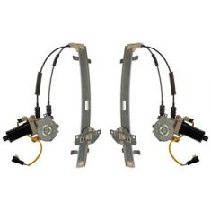 1994-97 (thru 07/14/97) Hyundai Sonata Power Window Regulator w/Motor Front PAIR
