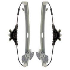 2006-11 Hyundai Accent Sedan, 06-11 Kia Rio 5 Manual Window Regulator Rear PAIR