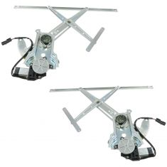 96-99 Dodge Plymouth Neon Power Window Regulator w/Motor 2 Door PAIR