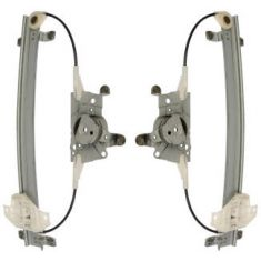 1996 (from 04/23/96)-98 Hyundai Sonata Power Window Regulator w/o Motor Rear PAIR