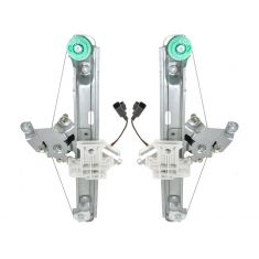 2005 (from 6/6/05)-08 Chevy Malibu Power Window Regulator w/Motor Rear PAIR