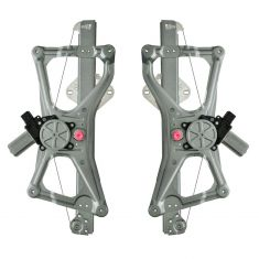 06-11 Acura CSX, Honda Civic Sedan, Civic Hybrid Front Door Power Window Regulator w/Motor PAIR