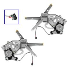 89-95 BMW 525i; 94-95 530i, 540i; 89-93 535i; 91-94 M5 Rear Door Power Window Regulator w/Motor PAIR