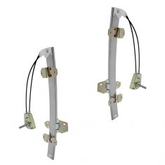 94-97 Honda Accord Sedan Front Door Manual Window Regulator PAIR