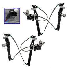 00-07 GM Pickup Window Regulator Rear Pair