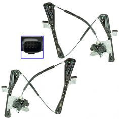 03-06 Lincoln LS Front Door Power Window Regulator w/Motor Set Pair