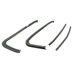 73-80 Blazer, Jimmy, Suburban, C/K Pickup Frt Door Vent Glass Seal Kit (2 Post Seals, 2 Glass Seals)