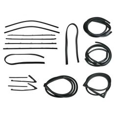 1967-72 GM Pickup Complete Weatherstrip Kit for Trucks with Black Seal Trim