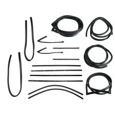 1967-70 GM Pickup Complete Weatherstrip Kit for Trucks with Chrome Seal Trim