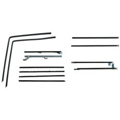 1966-77 Ford Bronco 12pc Window Sweep & Run Channel Weatherstrip Seal Set