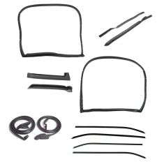 69-72 Chevy Corvette Coupe w/T-Tops Complete Weatherstrip & Window Sweep Kit (12 Piece Kit)