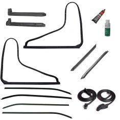 78-82 Corvette Coupe w/T-Tops Complete Weatherstrip & Window Sweep w/Install Kit (14 Piece Set)