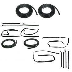 81-91 Chevy, GMC Suburban, Crew Cab Pickup Front & Rear Door Felt, Window Sweep & Weatherstrip KIT