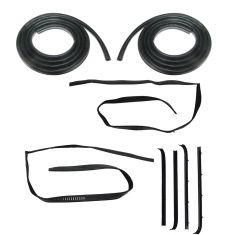 81-91 Chevy, GMC Suburban, Crew Cab Pickup Rear Door Felt, Window Sweep & Weatherstrip KIT