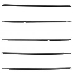 03-09 Toyota 4Runner Front & Rear Door w/Liftgate Glass Outer Belt Mld Wstp Seal Kit (Set of 5) (TY)