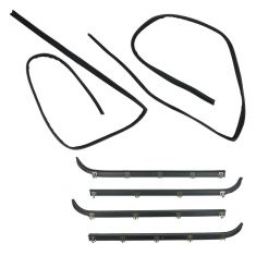 6pc Window Sweep and Run Channel Weatherstrip Kit
