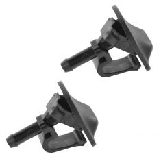 97-06 Jeep Wrangler; 07-15 Wrangler Single Squirter Windshield Washer Spray Nozzle Pair (Mopar)
