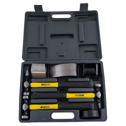 7pc Auto Body Hammer & Dolly Kit