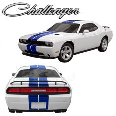 08-12 Challenger SRT8-392 Hemi Style Over-Roof Stripe Kit OEM blue color