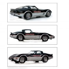 78 Indy Pace Car Corvette Complete Decal Kit Red/Silver