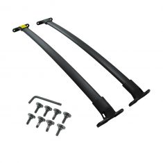 15 (frm 5/4/15)-17 Ford Explorer Roof Rack Black Elliptical Cross Bar Rail Pair Kit (Ford)
