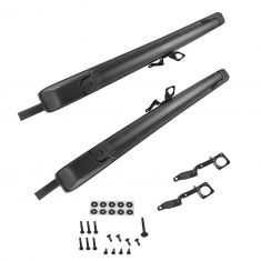 05-15 Toyota Tacoma Double Cab Roof Rack Mounted Black Roof Cross Rail PAIR (Toyota)