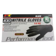 Black Nitrile Gloves - XL