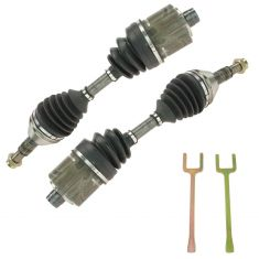 97-10 Chevy, 97-04 Olds; 99-10 Pontiac; 07-09 Saturn Front Outer CV Axle Shaft w/ Removal Tool Pair