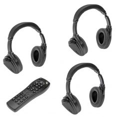 10-13 Buick, Cady, Chvy, GMC Multifit; DVD Remote Control & 3 Headphone Kit  (Dorman)