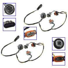 08-10 Malibu Hybrid; 08-12 Malibu Headlight Wiring Harness Pair (GM)